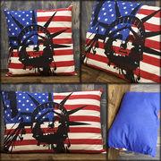 ★【FLAG ITEM LIBERTY】★USA アメリカ 自由の女神★大きさもお手頃 フラッグ クッション★