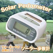 【運動・ダイエットに!】これ一つで歩数、距離、消費カロリーを同時に計測!電池いらず!ソーラー歩数計
