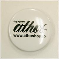 athos(アトス)ロゴ缶バッジ(ホワイト/白)