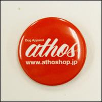 athos(アトス)ロゴ缶バッジ(レッド/赤)