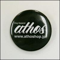 athos(アトス)ロゴ缶バッジ(ブラック/黒)