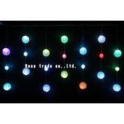 LEDボールアイシクルライト、RGB、LED21球、1.5mx0.8m、連結可