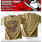 ASSASSIN JOHNNY SST (Machine Gun)」ラメプリントTシャツ