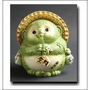 学問運(緑) 信楽焼 風水タヌキ(小)