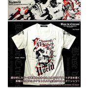 「Sin World」 カラー箔スカルヘッドシルケットスムスUネックTシャツ