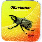 昆虫タオルハンカチ グラントシロカブト