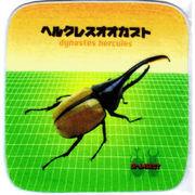 昆虫タオルハンカチ ヘラクレスオオカブト