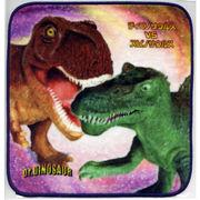 恐竜タオルハンカチ ティラノサウルスVSスピノサウルス