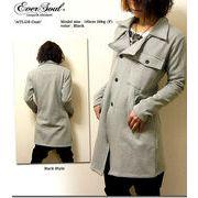 ★最強のサロン系コート登場!★「ATLUS coat」 裏起毛スウェット素材サロン系ロングピーコート