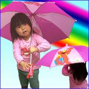エルモのドール付きキッズアンブレラ-子供用折りたたみ傘/セサミストリート