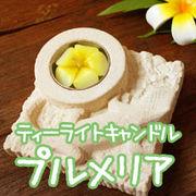 10個セット!ハワイのお花【プルメリア】のティーライトキャンドル