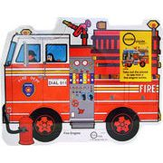 消防車のジグソーパズル(両面)/赤ちゃん・幼児・男の子/誕生日プレゼント・ギフト・出産祝いに
