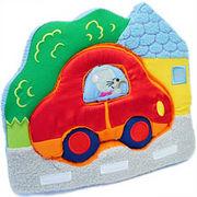 ドイツ輸入の布パズル「ネズミのくるま」ベビー・新生児に/誕生日プレゼント・ギフト/自動車ぬいぐるみ