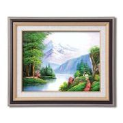 メイヤー油絵額F6 「崇高な山々」