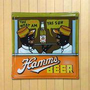ホーロー看板 HAMMS BEER
