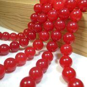 7月誕生石 レッドカーネリアン 一連 (紅玉髄)(φ8mm-20mm) 連売り 素材 パーツ 丸玉