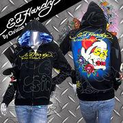 【Ed Hardy】エドハーディー★SEX&SIN★スカル★ローズ★パーカー ブラック