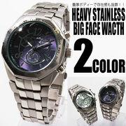 【圧倒的な重厚感】オクタゴン・ビッグフェイス腕時計【保証書付き】