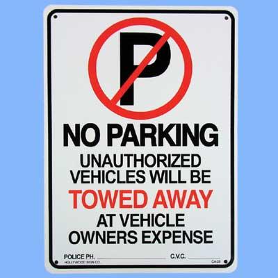 プラスティックサインボード CA-26 駐車禁止