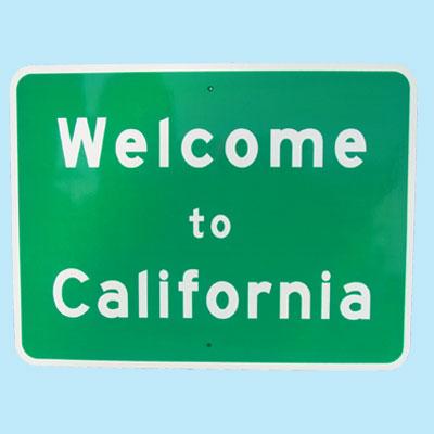US Welcome to California トラフィックサインボード