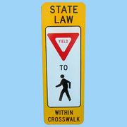 US STATE LAW YIELD トラフィックサインボード