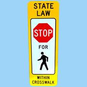 US STATE LAW STOP トラフィックサインボード