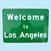 US Welcome to Los Angels トラフィックサインボード