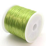 34色展開70m巻 天然石ブレス製作に欠かせない!ゴムテグス草色グリーン ru15