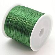 34色展開70m巻 天然石ブレス製作に欠かせない!ゴムテグス緑色グリーン ru17