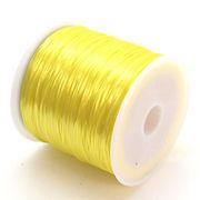 34色展開70m巻 天然石ブレス製作に欠かせない!ゴムテグスイエロー黄色 ru8