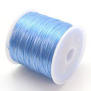 34色展開70m巻 天然石ブレス製作に欠かせない!ゴムテグスアクアブルー青色 ru9