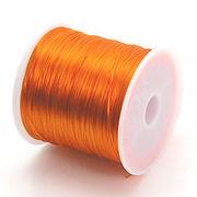 34色展開70m巻 天然石ブレス製作に欠かせない!ゴムテグスオレンジ ru10