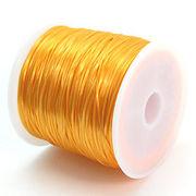 34色展開70m巻 天然石ブレス製作に欠かせない!ゴムテグスみかん色 ru11