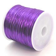 34色展開70m巻 天然石ブレス製作に欠かせない!ゴムテグス紫パープル ru12