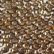 【ネイル業務用】ネイルに最適なガラスストーン 約1440粒パック スモーキートパーズ1.8-3mm 格安☆