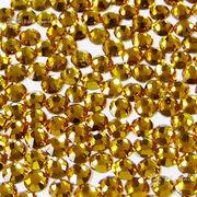 【ネイル業務用】ネイルに最適なガラスストーン 約1440粒パック トパーズゴールド1.8-3mm 格安☆