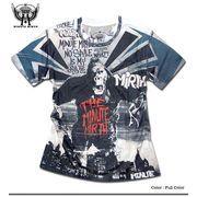 ★フルカラーインクジェット!★キングコングシネマ総柄プリントTシャツ!★