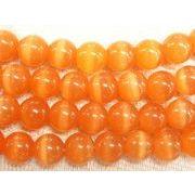 キャッツアイ オレンジ ラウンド 連販売 約8mm