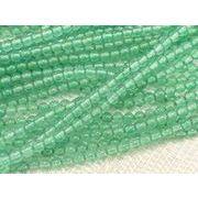 水晶(クォーツ) グリーン染色 ラウンド 連販売 約2mm