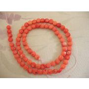 珊瑚(染色) 連販売 太鼓型 約5mm