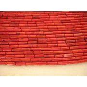 珊瑚(染色) 連販売 筒型 約6~7mm 真紅