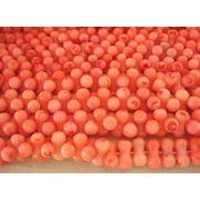 珊瑚(染色) 連販売 ピーナッツ型 約10×5mm