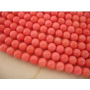珊瑚(染色) 連販売 ラウンド 約6mm ピンクコーラル
