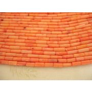 珊瑚(染色) 連販売 筒型 約6~7mm