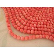 珊瑚(染色) 連販売 ラウンド 約6.5mm