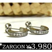 【ZARGON】ザルゴンステンレスピアス/キュービックジルコニアピアス/エタニティーピアス