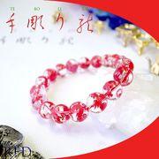 手彫り〈赤龍〉水晶(12mm)ブレスレット