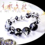 手彫り〈黒龍〉水晶(18mm)ブレスレット
