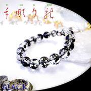 手彫り〈黒龍〉水晶(12mm)ブレスレット