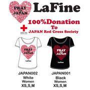 【LaFine】ラファイン★PRAY FOR JAPAN★東日本大震災★復興支援★チャリティーTシャツ★クルーネック★